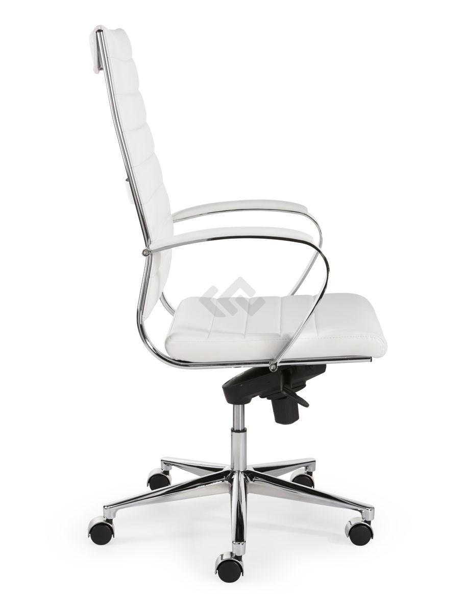 Design Bureaustoel Wit.Design Bureaustoel 601 Hoge Rug In Wit Pu Bestellen