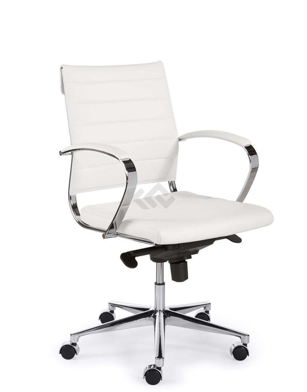 Design Bureaustoel Wit.Design Bureaustoel 600 Lage Rug In Wit Pu Bestellen