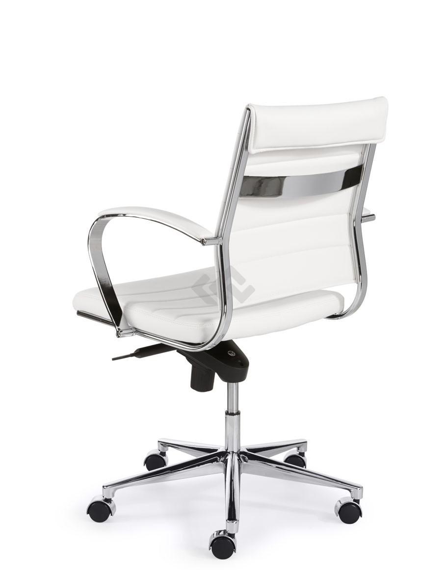 Bureaustoel De Wit.Design Bureaustoel 600 Lage Rug In Wit Pu Bestellen