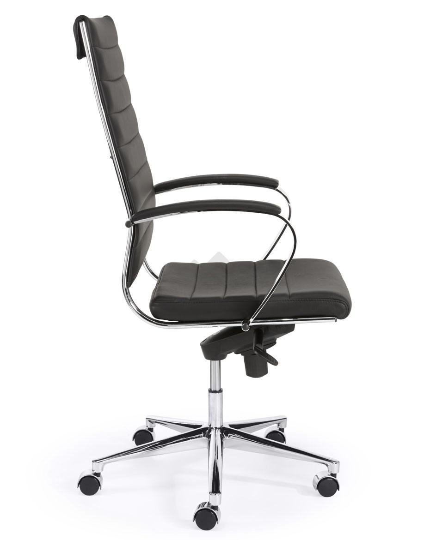 Hoge Bureau Stoel.Design Bureaustoel 601 Hoge Rug In Zwart Pu Bestellen