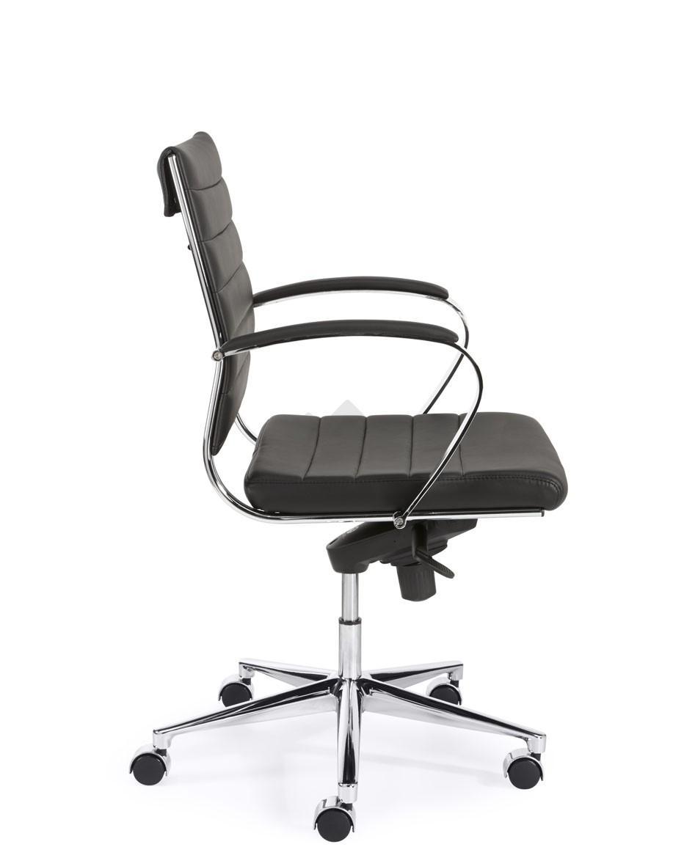 design bureaustoel 600 lage rug in zwart pu bestellen