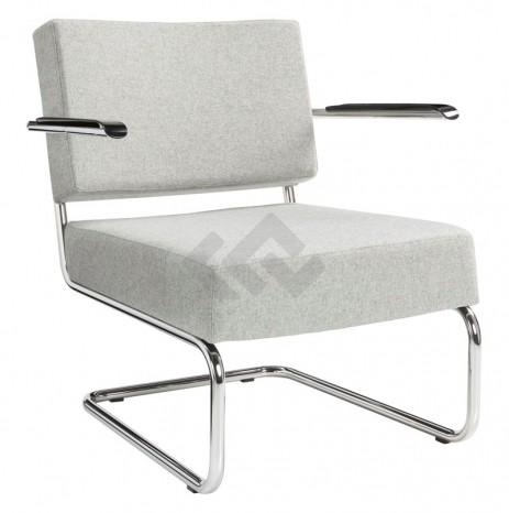 Retro fauteuil in wolvilt stoffering